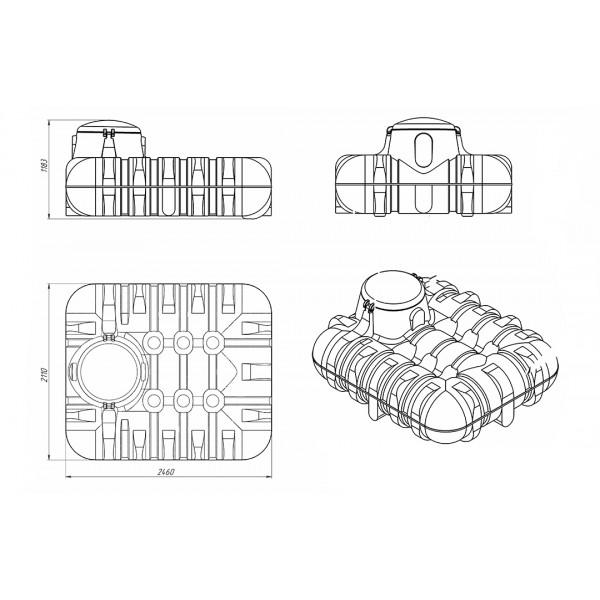 Емкость подземная «Rostok» R 3000