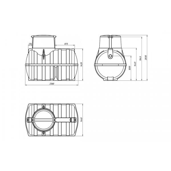 Емкость подземная «Rostok» U 3000
