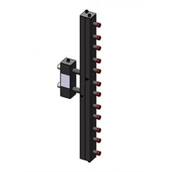 Гидроразделитель Zota с коллектором вертикальный, 6 контуров, до 70 кВт