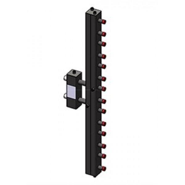 Гидроразделитель Zota с коллектором вертикальный, 7 контуров, до 70 кВт