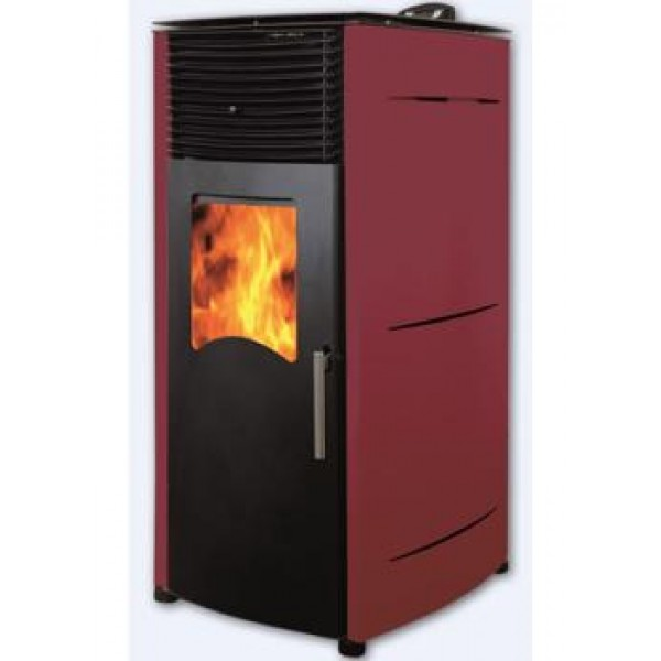 Пеллетный камин BURNIT PD COMFORT PLUS 8KW BORDEAUX