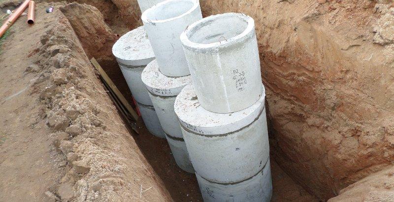 Постройка септика из бетонных колец